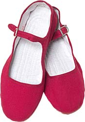 Burgundy cotton basic mary janes--one of the colors I chose!