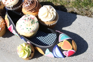 Pastry Glam Fruit Ballerina and Saint Cupcakes