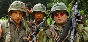 Tropic Thunder's Ben Stiller; Robert Downey, Jr.; and Jack Black