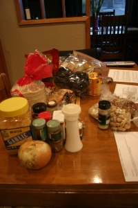 My kitchen table was literally covered in all the crazy mole ingredients.