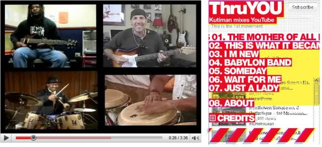 ThruYOU combines several YouTube videos to create an original sound.