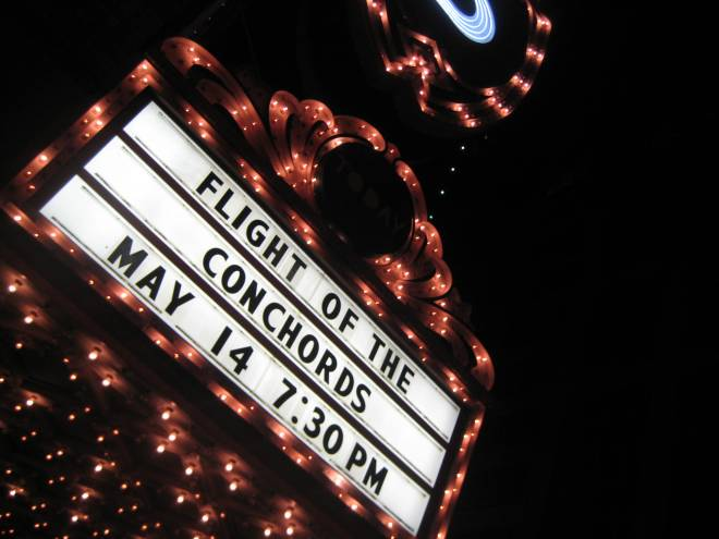 Flight of the Conchords at the Arlene Schnitzer Concert Hall last night. EPIC. Photo by Jenny Cestnik.