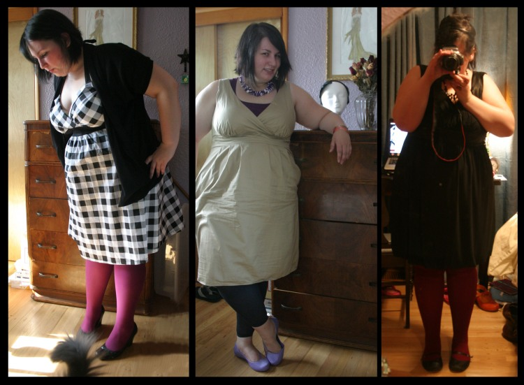 I LOVE WE LOVE COLORS. Wearing rubine tights, charcoal footless tights, and maroon tights.