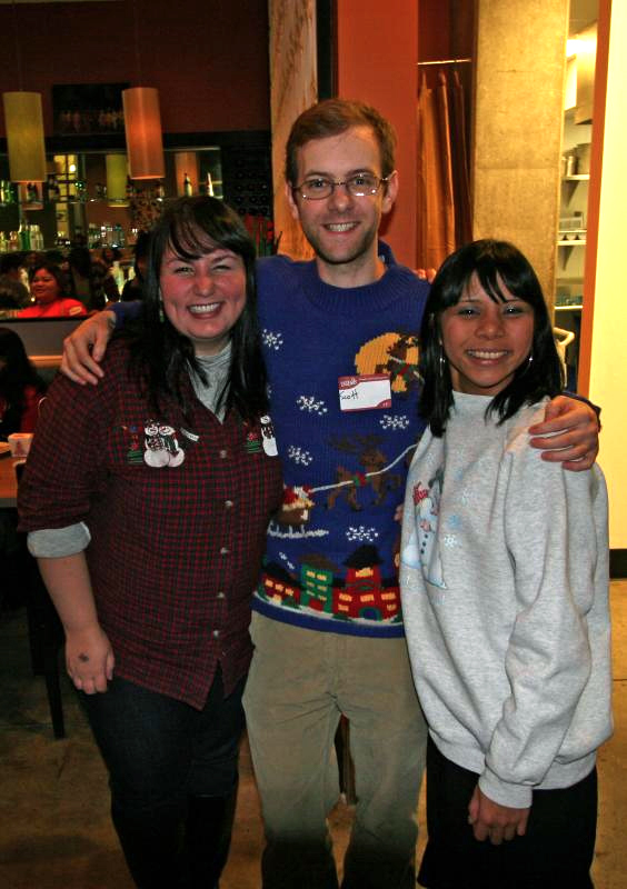 Me, Scott, and Kim looking pretty in ugly sweaters.