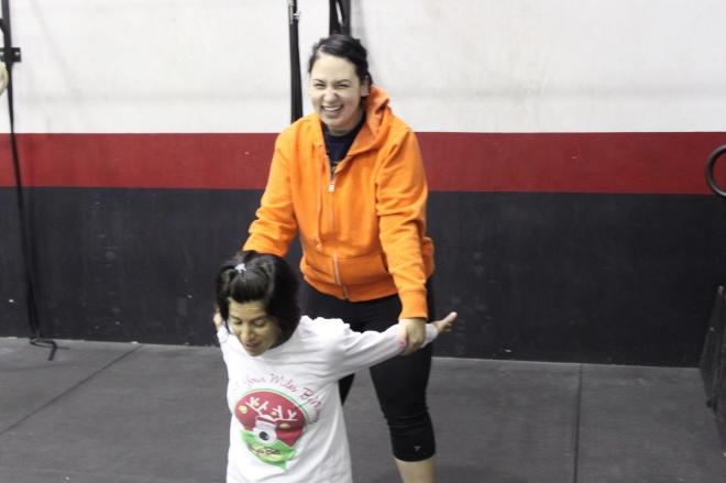 Working on mobility with my girl Anne Marie.