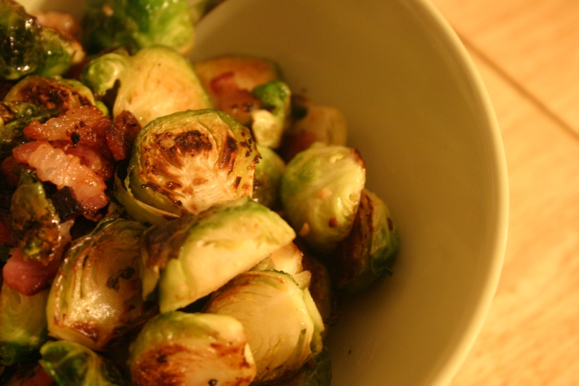 Bacony brussels sprouts!