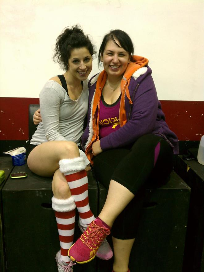 Me and my hu$tlin' girl Carissa at the Strongman competition.