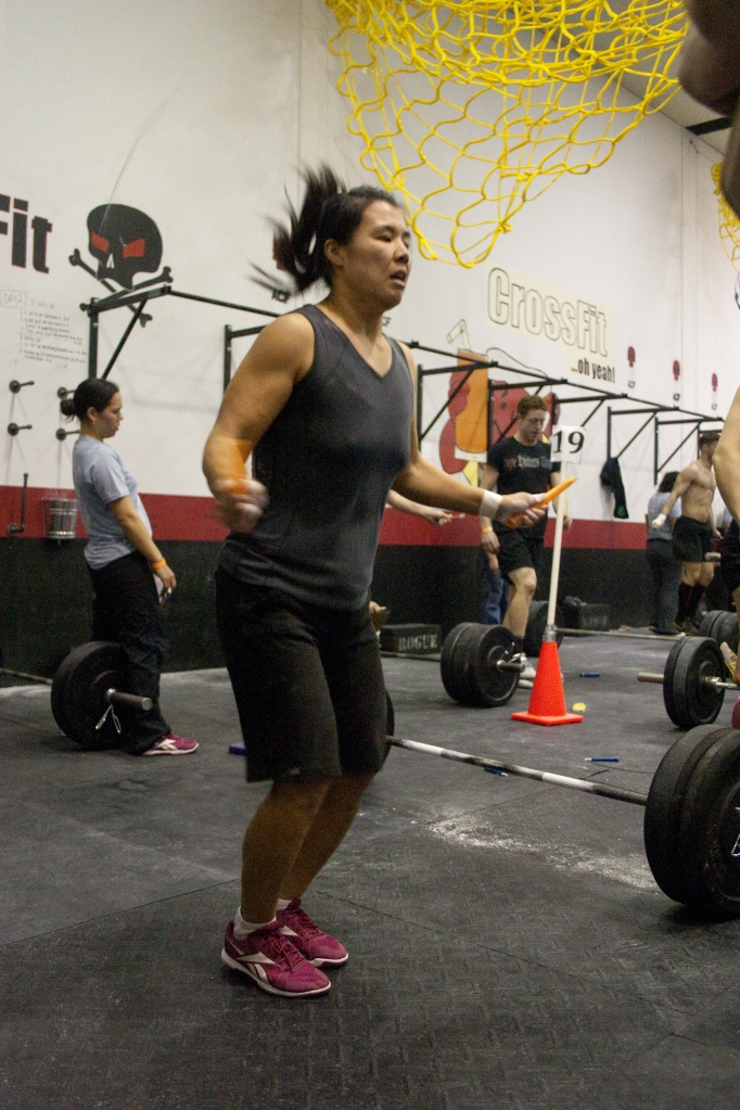 Miwa rocking some double unders.