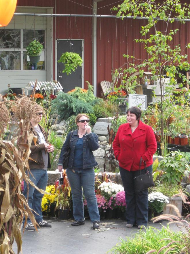 Around 2008, at a farmer's market/pumpkin patch.