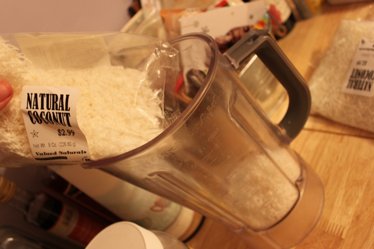Coconut into the blender!