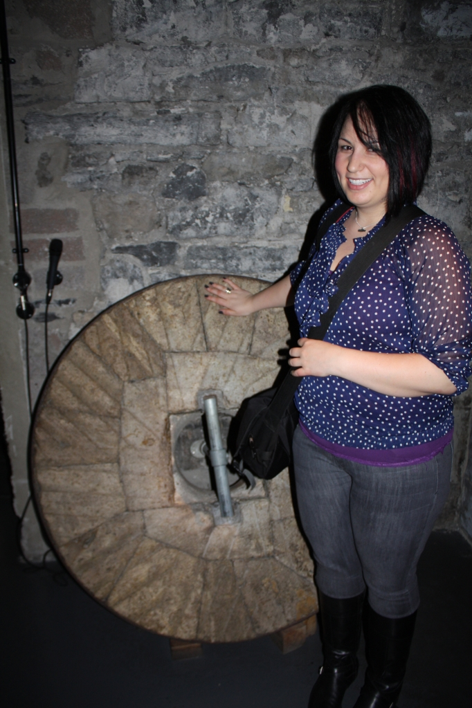 Touch this three times for 10 years of good luck! (At the Old Jameson Distillery.)