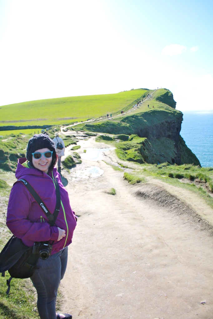 Hiking Hag's Head at the Cliffs of Moher.