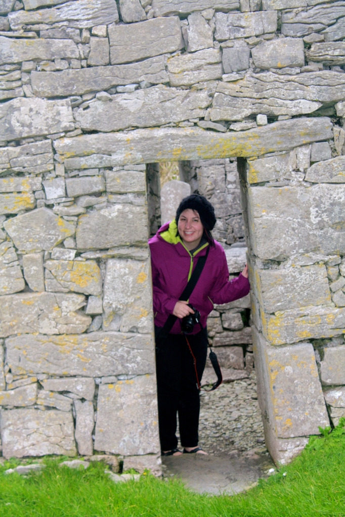Yay! Outside! (At a ~6th century church on Inis Oírr.)