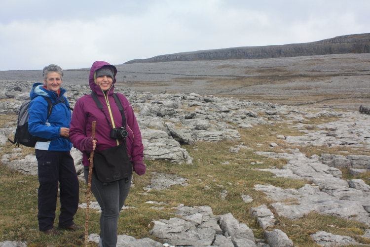 Hiking around the Burren.