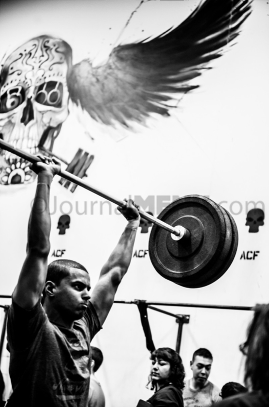 Mike lifting heavy!