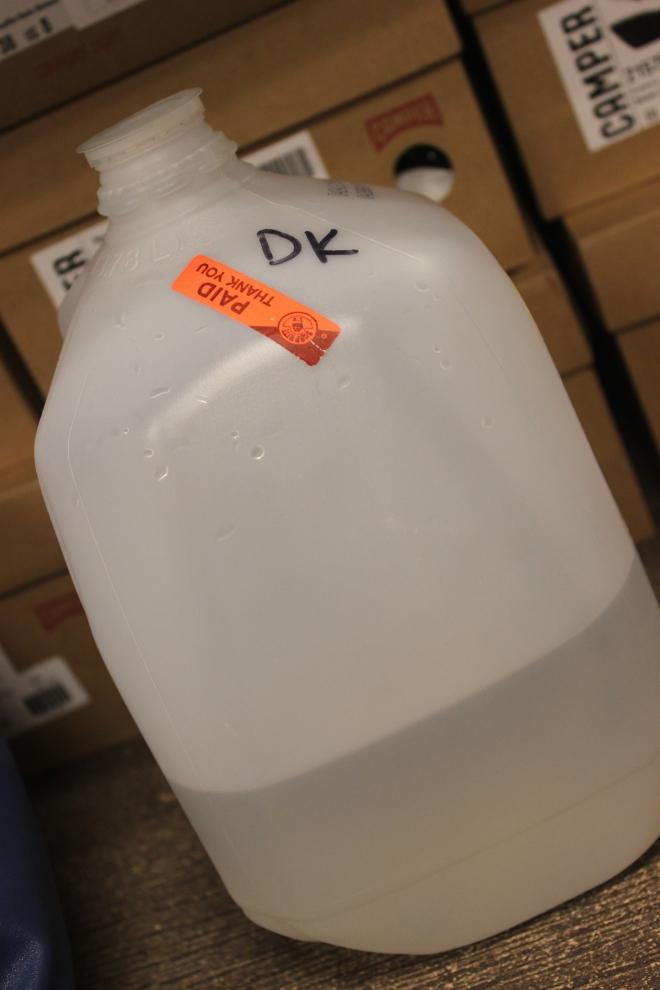 My humble jug o' water.