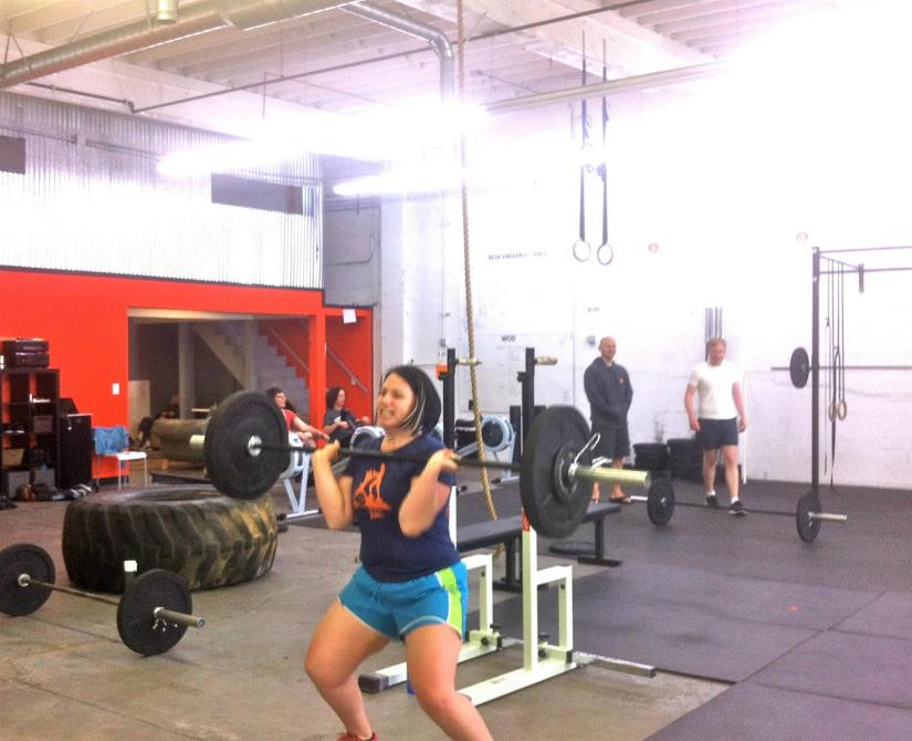 Typical WOD face: It looks like I'm about to cry. Wah-wahhhhh! (Photo courtesy of Crossfit Southwest Portland.)