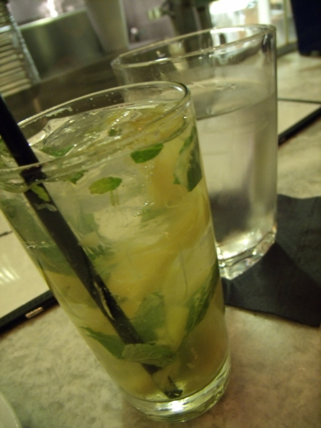 Pineapple mojito. Yes.