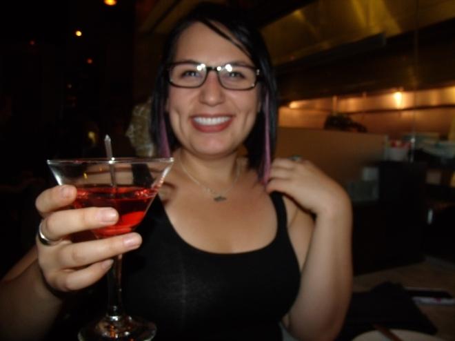 Wooo!!! Lychee martini at Basil.