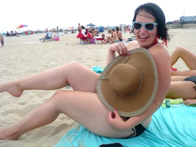 Gettin' scandalous on Hampshire Beach.